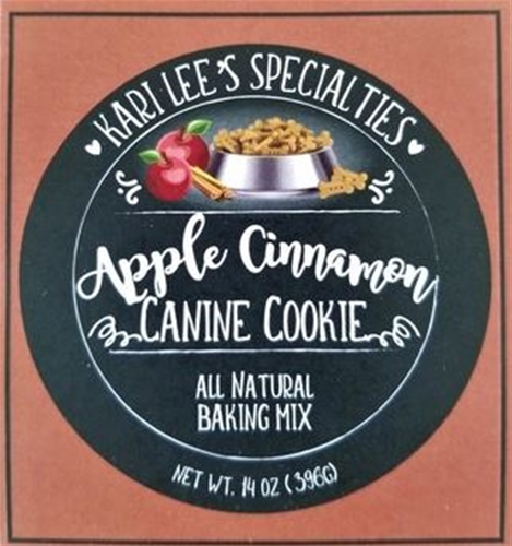 Make Your Own- Apple Cinnamon Dog Cookie    12/case